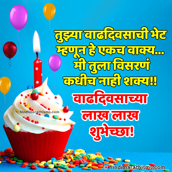 Birthday Status in Marathi Image
