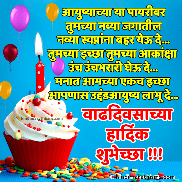 Birthday Wishes Marathi Font Image