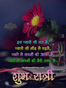 शुभ रात्री हिंदी SMS
