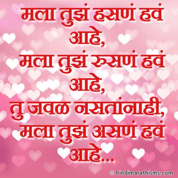 Mala Tujhe Hasne Have Aahe Image