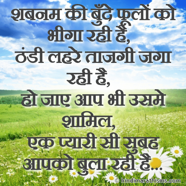 Pyaari Si Subah Aap Ko Bhula Rahi Hai Image