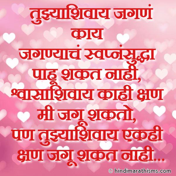 Tuzhya Shivay Jagu Kasa SMS Image