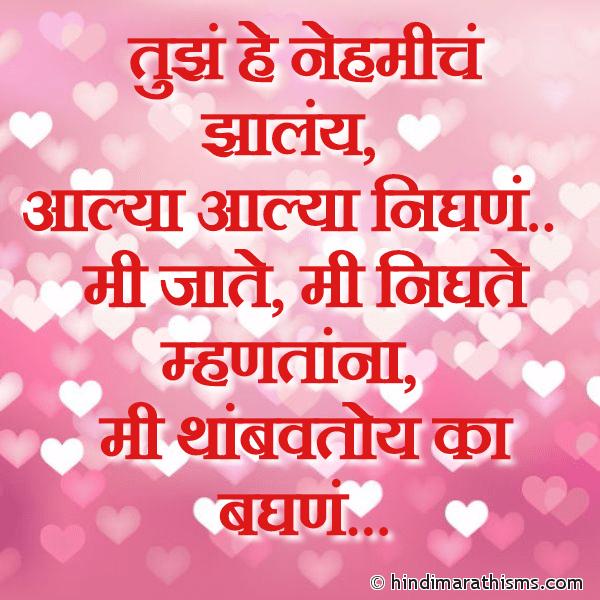 Tujhe He Nehmiche Jhalay PREM CHAROLI MARATHI Image