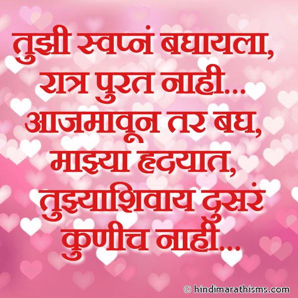 Tujhyashivay Dusre Kunich Nahi PREM CHAROLI MARATHI Image