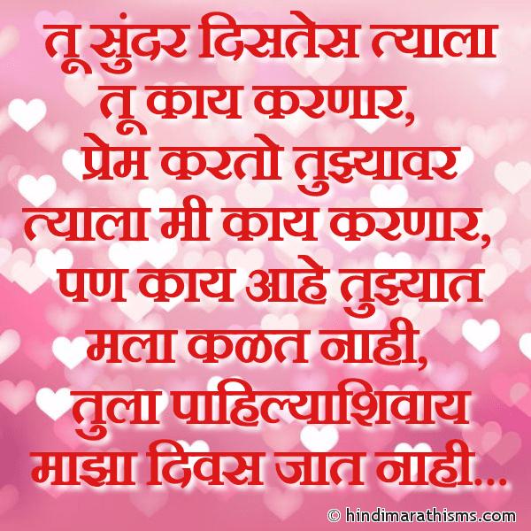 Tula Pahilyashivay Divas Jaat Nahi PREM CHAROLI MARATHI Image