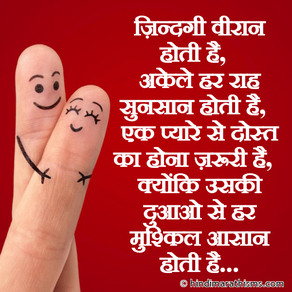 Ek Pyaare Se Dost Ka Hona Zaruri Hai FRIENDSHIP SMS HINDI Image