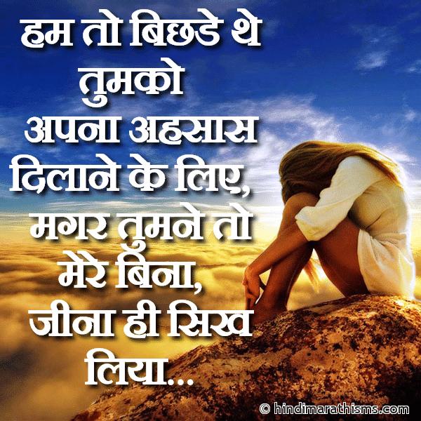 Tumne Mere Bina Jeena Hi Sikh Liya JUDAI SMS HINDI Image