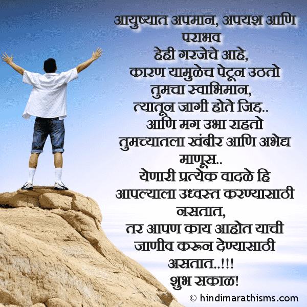 Apyash Ani Parabhav Garjecha Ahe ENCOURAGING SMS MARATHI Image