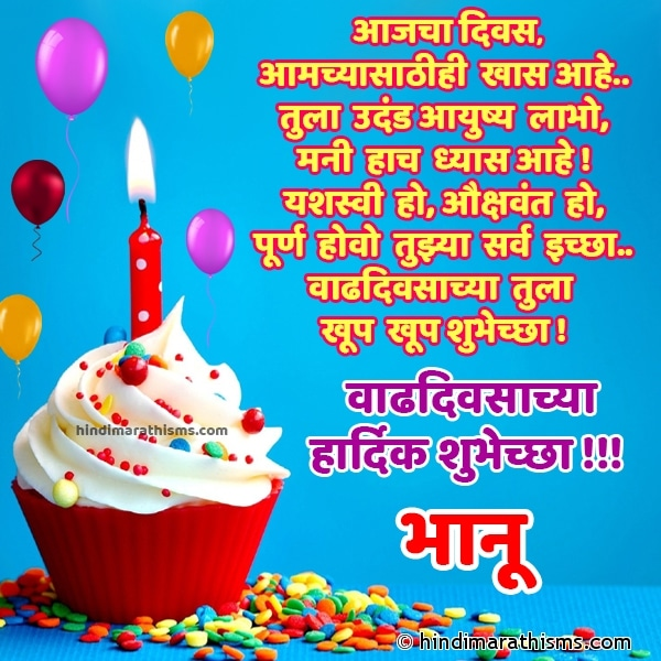 Happy Birthday Bhanu Marathi Image