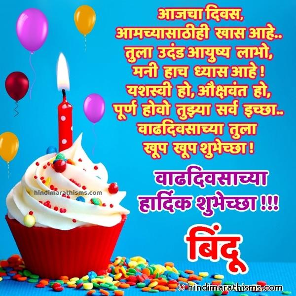 Happy Birthday Bindu Marathi Image