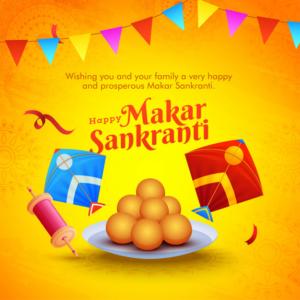 Happy Makar Snakranti Greeting English